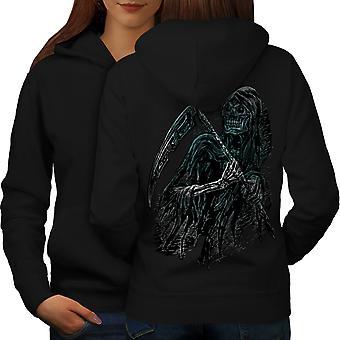 Reaper Killer Death Women BlackHoodie Back | Wellcoda