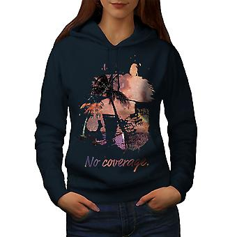 Palm Vacation Sea Holiday Women NavyHoodie | Wellcoda