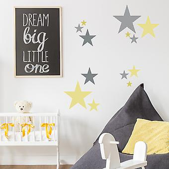 Set Of Six 5-point Star Stencils