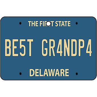 Delaware - Best Grandpa License Plate Car Air Freshener
