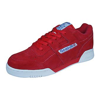 Reebok Classic Workout Plus Vintage Mens Suede Trainers / Shoes - Red