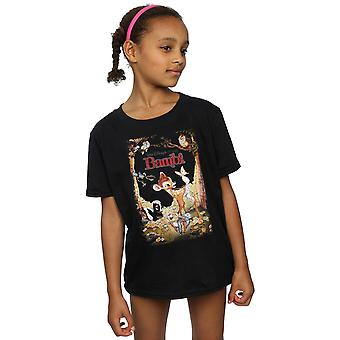 Disney Girls Bambi Retro Poster T-Shirt