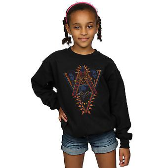 Marvel flickor Black Panther Tribal huvuden Sweatshirt