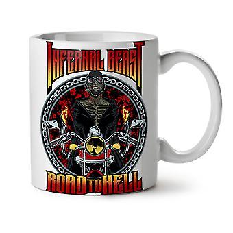 Infernal Beast NEW White Tea Coffee Ceramic Mug 11 oz   Wellcoda