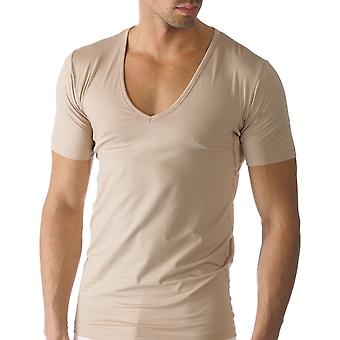 Mey 46098-111 Men's Dry Cotton Skin Solid Colour Short Sleeve Top