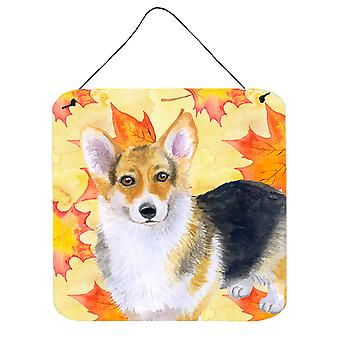 Carolines Treasures  BB9903DS66 Pembroke Corgi Fall Wall or Door Hanging Prints