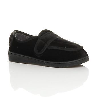 Ajvani womens diabetic orthopaedic memory foam wide fit adjustable slippers