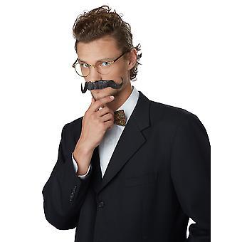 Handtag grå svart engelsmannen 1920-talet Butler skurk Mens kostym mustasch