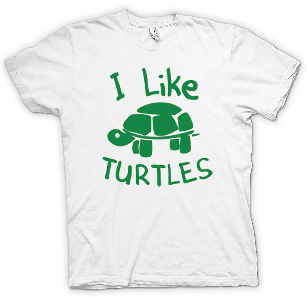 Femmes T-shirt - I Like Turtles