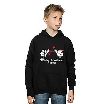 Disney Boys Mickey Mouse Love Hands Hoodie