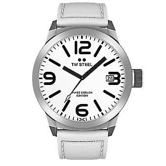 TW stål mens klocka Marc Coblen Edition TWMC43 wrist watch läderarmband