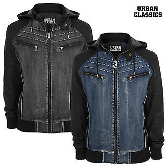 Urban Classics Hooded Jacket Denim Leather