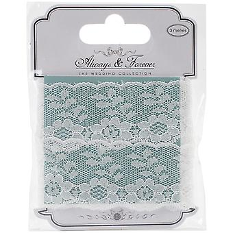 Craft Consortium Always & Forever Lace Ribbon 3M-Flower Chain