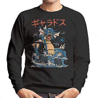 Fliegendes Wasser Kaiju Pokemon Garados Herren Sweatshirt