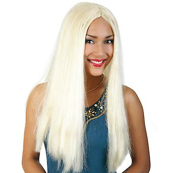 Wig vamp blond Megalang Centre parting star