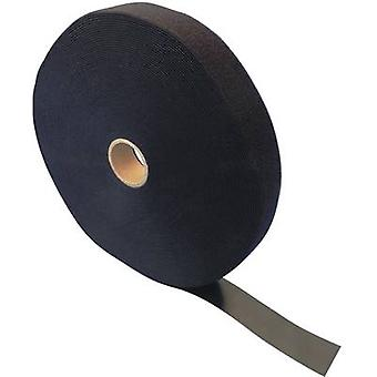 Hook-and-loop tape for bundling Hook and loop pad (L x W) 25000 mm x 35 mm Black Fastech ETN FAST-Strap 35 MM 25 m