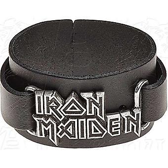 Iron Maiden correa de cuero de la insignia
