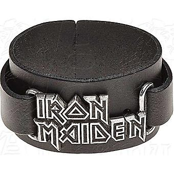 Iron Maiden Logo Leder Wriststrap