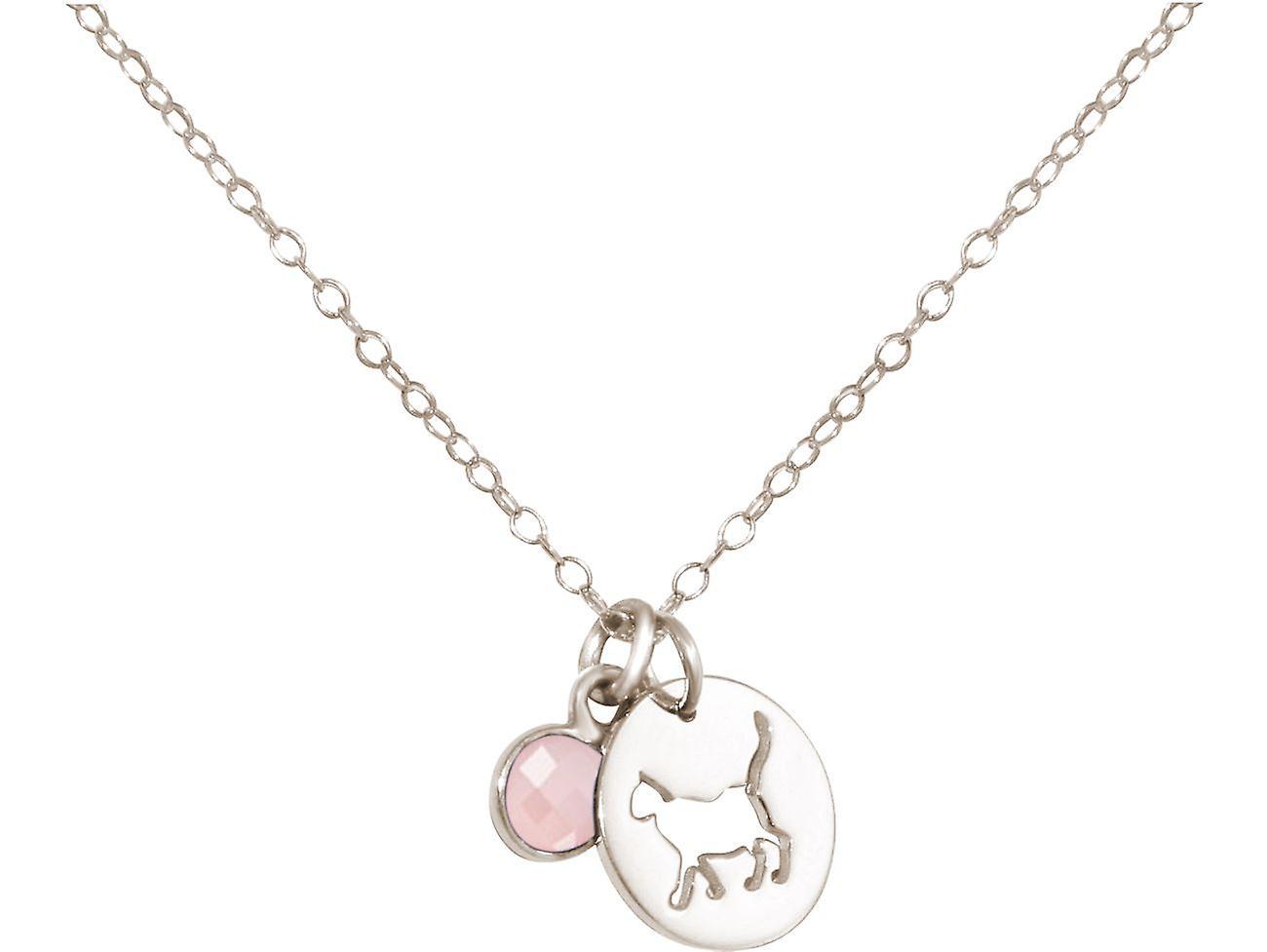 GEMSHINE chat pendentif avec pierre gemme Quartz Rose. Argent 925 massif, plaqué or ou collier de 45cm. Cadeau pour le propriétaire de l'animal, maîtresse - fabriquée en Espagne