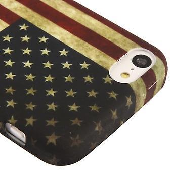 Schutzhülle TPU Case für Handy Apple iPhone 5C USA