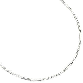 Halsreif Halskette Silberkette 925 Sterling Silber 2,8 mm 50 cm Karabinerverschluss
