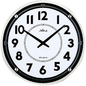 Атланта 4434 настенные часы кварцевые аналоговые раунд тихо тихо со стеклом