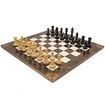 The Monarch Ebony And Walnut Grand Luxury Chess Set