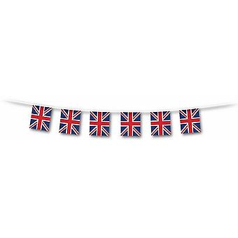 Union Jack Flag Bunting - 5 Metres - 10 Flags - 6