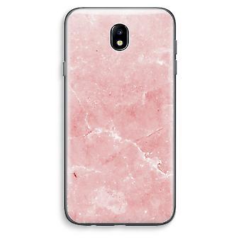 Samsung Galaxy J7 (2017) Transparent Case - Pink Marble