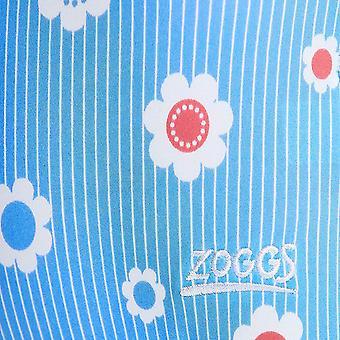 MITTELERWEILE Mädchen Urlaub Scoopback Badeanzug - Blue/Multi