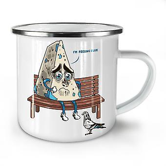 Old Blue Cheese NEW WhiteTea Coffee Enamel Mug10 oz | Wellcoda