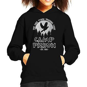 Mike Tyson Pigeon Training Camp Kid's Hooded Sweatshirt