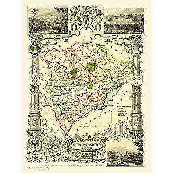 Old Map of Rutland (shire) 1836 by Thomas Moule 1000 Piece Jigsaw Puzzle (jhg)