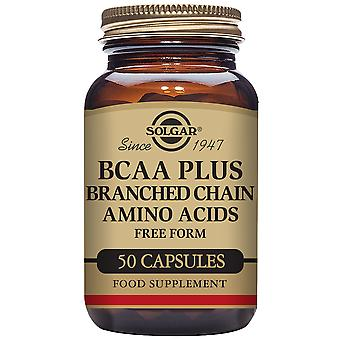 Solgar BCAA Plus (Branched Chain Amino Acids) 50 Vegetable Capsules
