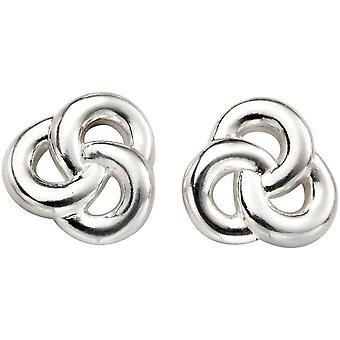 Begin Keltische knoop Stud Oorbellen - zilver