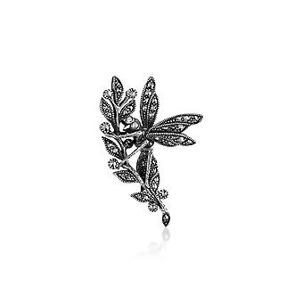 Sterling Silver 0.83ct Marcasite Wasp Design Brooch