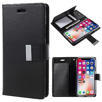 Mercury GOOSPERY Rich Diary for iPhone X/XS-Black
