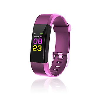 ID115 Plus Activity bracelet with Color Display-Purple