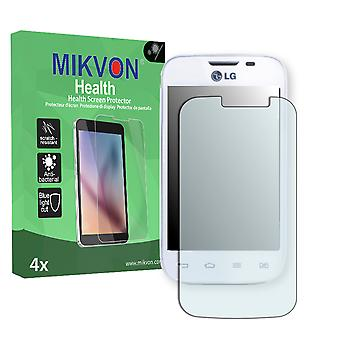 LG L40 D170 Dual Sim Screen Protector - Mikvon Health (Retail Package with accessories)