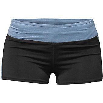 Böses Mädchen Logo Shorts - schwarz/blau Marl
