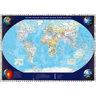 Schmidt Map Of Our World Jigsaw Puzzle (2000 Pieces)