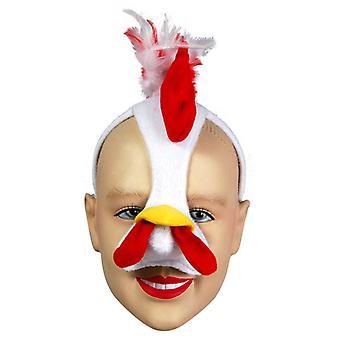 Huhn Maske auf H'band & Sound.