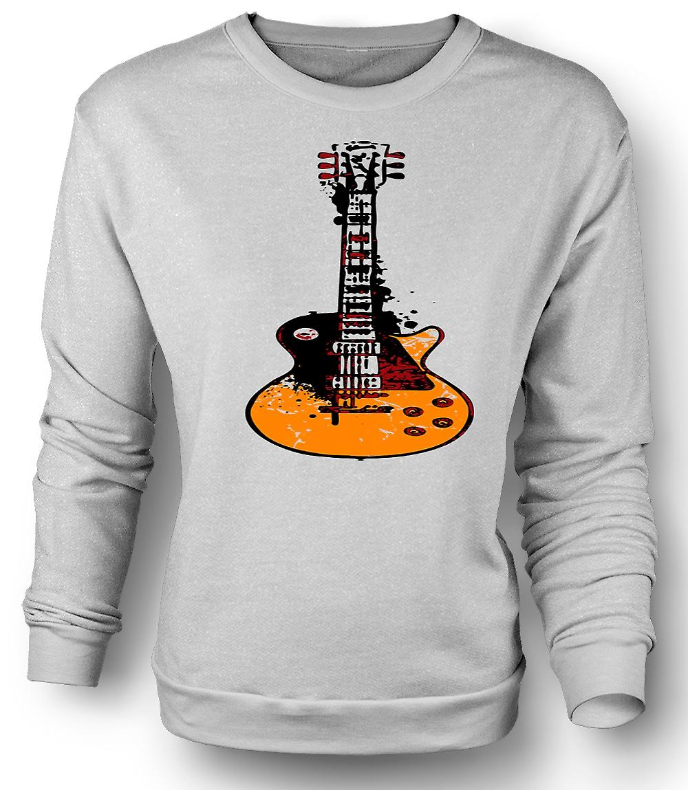 Mens Sweatshirt Gibson Les Paul Guitar Rock Blues - Music