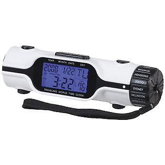 TechBrands World Time Alarm Clock w/ LED Torch