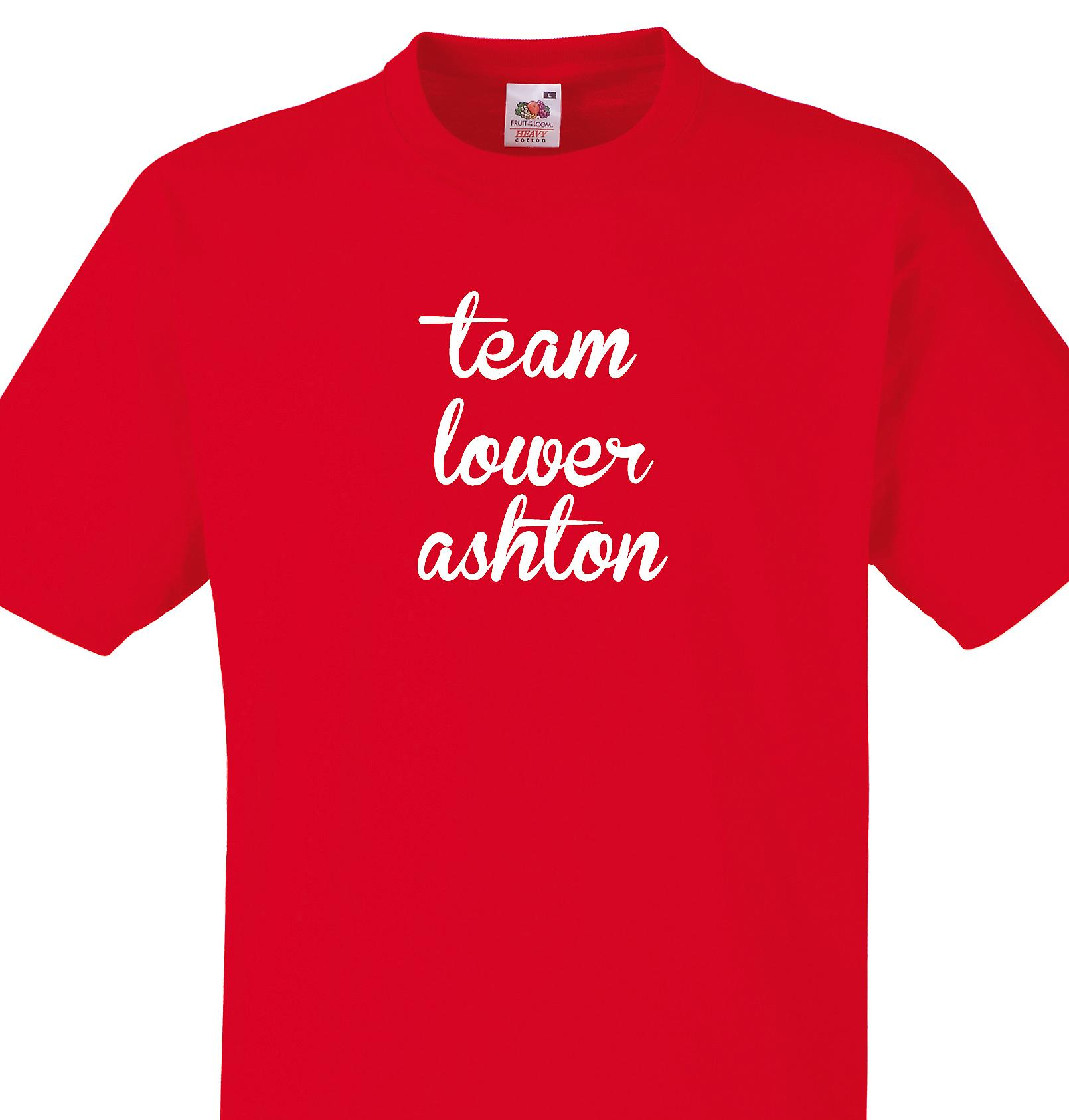 Team Lower ashton Red T shirt