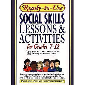 Sociale vaardigheden van de kant-en-klare lessen en activiteiten: voor de rangen 7-12 (kant-en-klare)