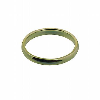 18ct Gold 3mm plain Court shaped Wedding Ring Size Q
