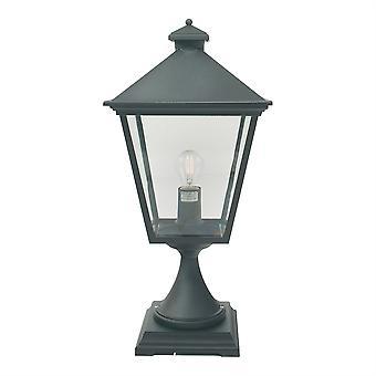 Lanterne extérieure piédestal en Turin - Elstead éclairage T3 noir
