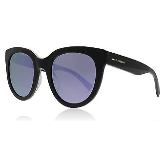 Marc Jacobs Marc233/S 2PO Black / Blue Marc233/S Round Sunglasses Lens Category 3 Lens Mirrored Size 51mm