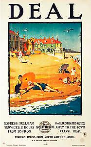 Deal, Kent (old Stn. Railway ad.) fridge magnet